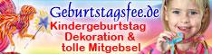 Geburtstagsfee.de - Kinderparty Dekoration und tolle Mitgebsel