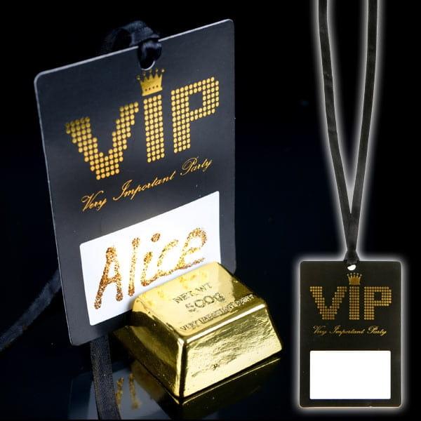 VIP Pass mit Band und Beschriftungsfeld, 7cm x 10cm, 10er Pack