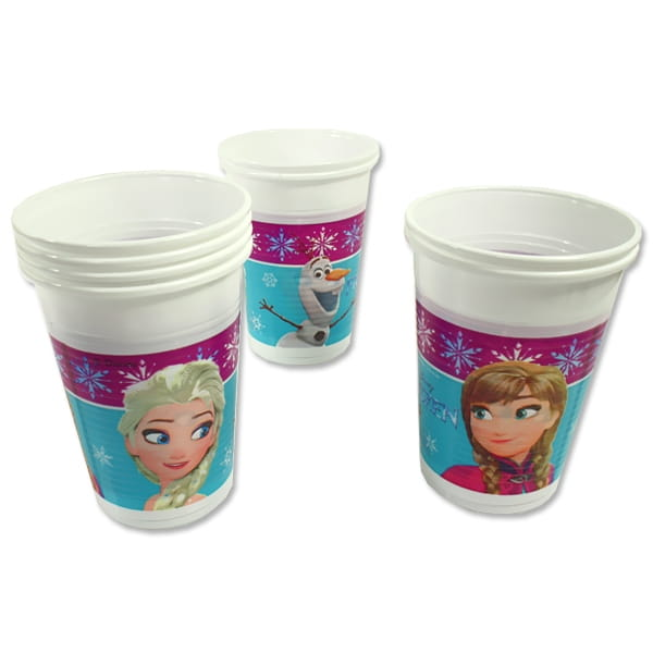 Frozen Plastikbecher mit Anna, Elsa und Olaf im 8er Pack, 200 ml