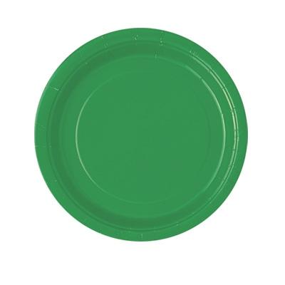 Partyteller einfarbig grün, 8er-Pack