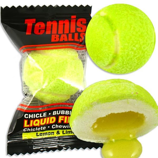Kaugummi Tennisball, 3cm Durchmesser, Zitronen-Limettengeschmack