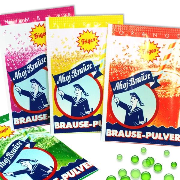 Großpackung, 100 Ahoj Brause - Tütchen in der Dose, für Erfrischungsgetränke