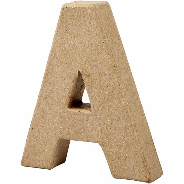 A Buchstabe, handgearbeitet aus Pappe, zum Basteln, Bemalen, Verzieren