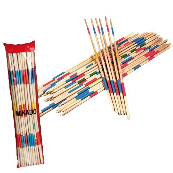 Riesen-Mikado, Spiel aus Holz, inkl. Verpackung, 41 Stück, 50cm