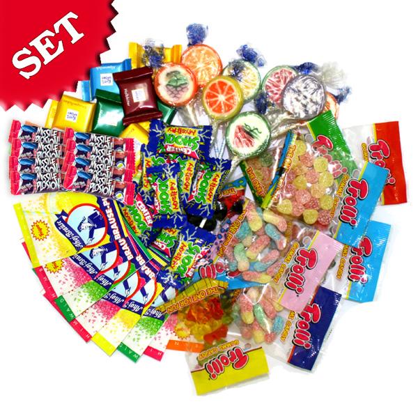 Süßigkeitenset 55tlg. für 8 Kids, 8 verschiedene köstliche Süßigkeiten