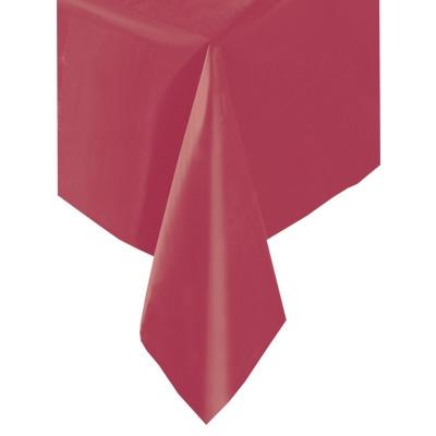 Weinrote Folientischdecke für Geburtstag & Alltag, 1,4 × 2,7m , einfarbig
