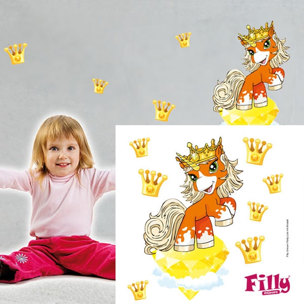 Wandtattoo Filly Loki, Einhorn-Wandsticker für Kleinkinder, 26 cm
