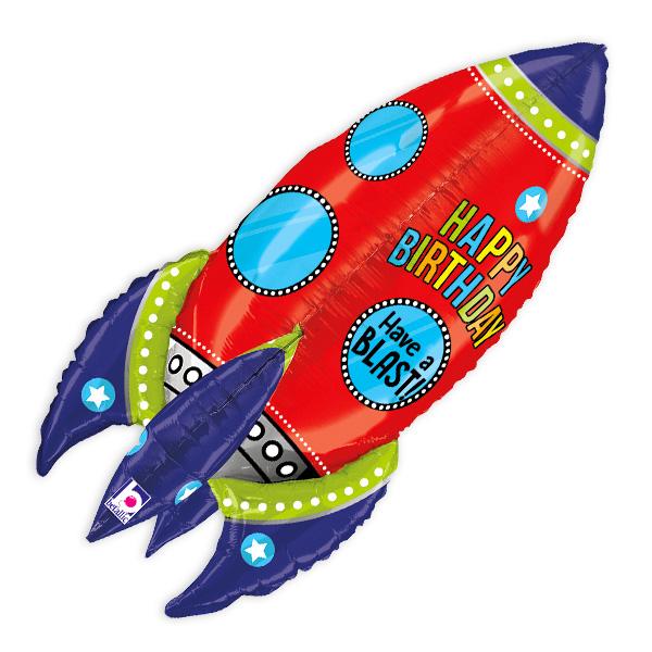 "3D-Folienballon ""Rakete"", 91cm"
