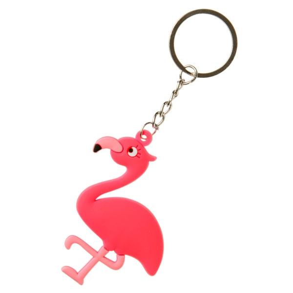 Großpack Flamingo Schlüsselanhänger, 12 Stk, 6,5cm