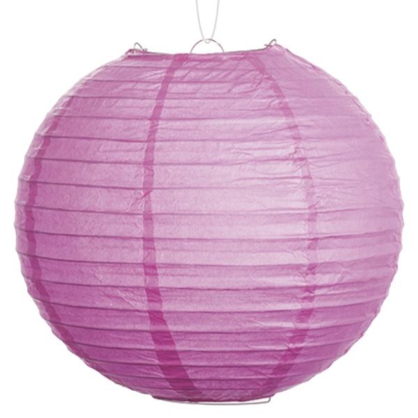 Lampion in zartem Lila, einfarbig, Papier, Indoor Deko, 1 Stück, 25 cm