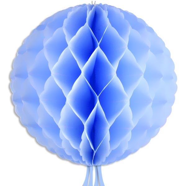 Wabenball blau, 30cm, Wabendeko mit Schnur zur Befestigung, 1 Stück