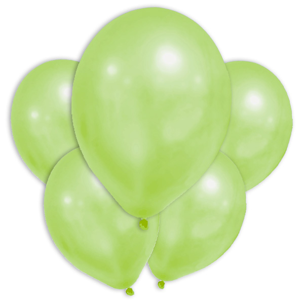 Grüne Metallic-Ballons, 8 Stk., 30cm