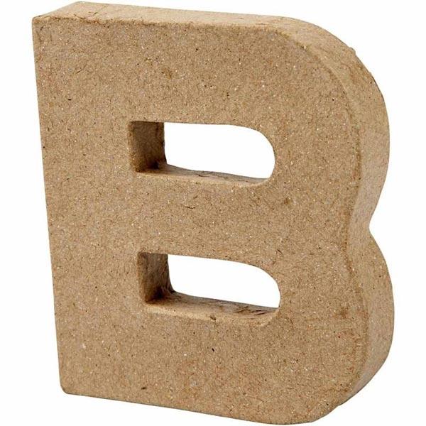 B Pappbuchstabe handgearbeitet 1,7×10cm, ideal zum Basteln und Bemalen