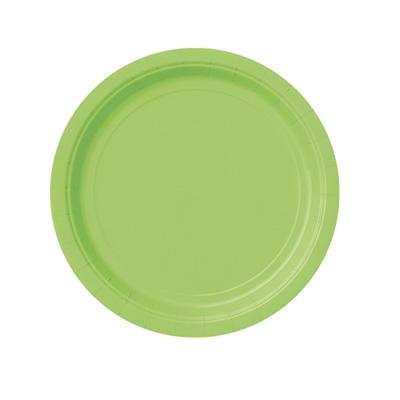 Pappteller einfarbig grasgrün, Einwegteller im 8er Pack, 18 cm