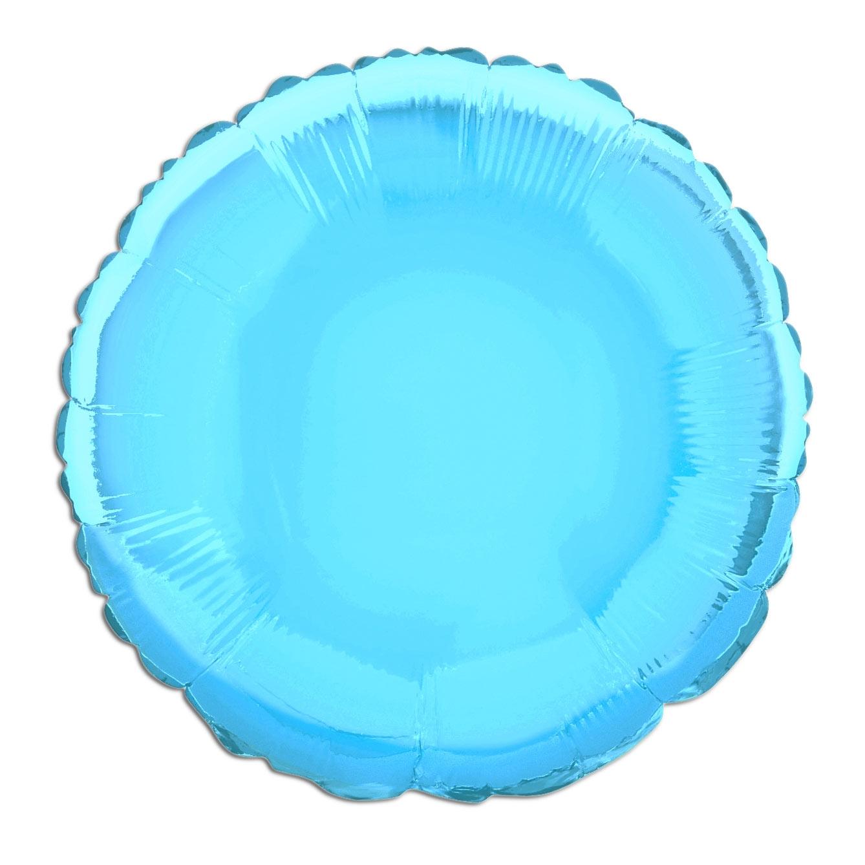 Folienballon rund hellblau, 35cm, einfarbig, ideal zum Beschriften