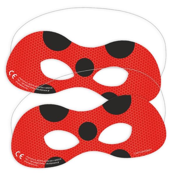 Miraculous Ladybug Partymasken, 6 Stk