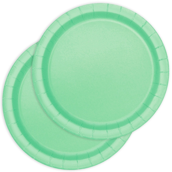 Kuchenteller einfarbig mintgrün 20 St.