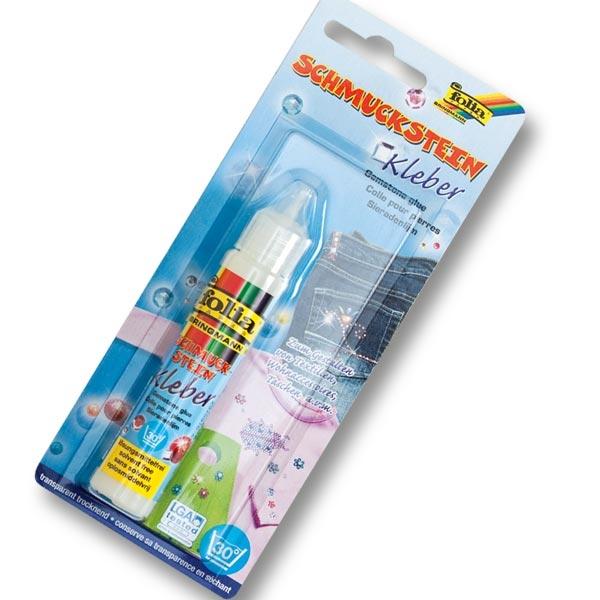 Schmucksteinkleber, transparent, 30g, für punktgenaues Kleben, bis 30 Grad waschbar, Klebstoff
