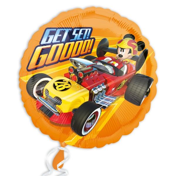 Micky Roadster runder Folienballon, 34cm