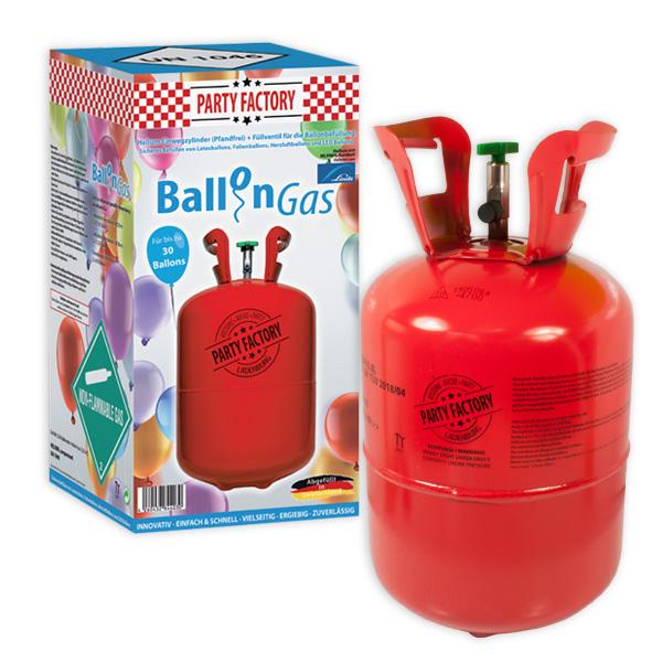 Helium kaufen, Ballongas f.30 Ballons Heliumgas in Einwegflasche, 1 Stück