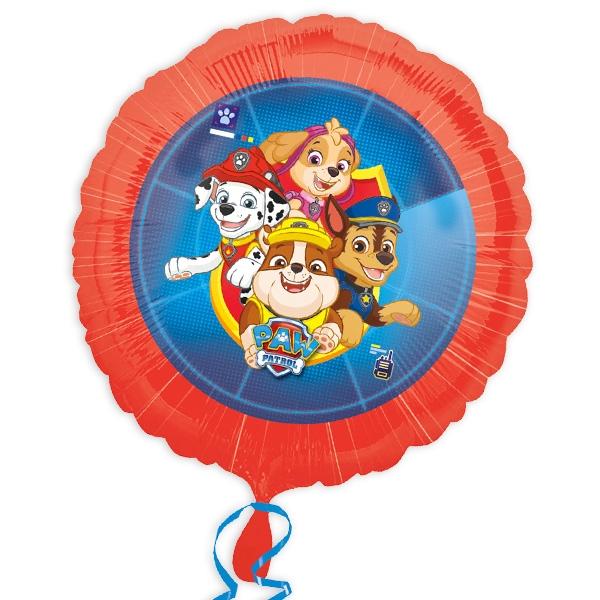 Paw Patrol runder Folienballon, 34cm