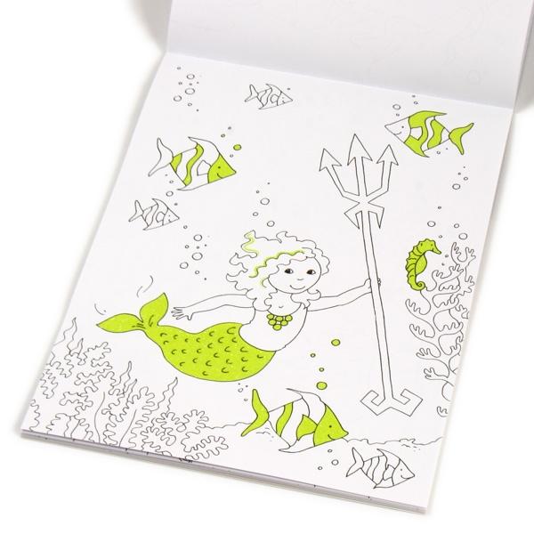 Glitzerzauber Malblock Meerjungfrauen