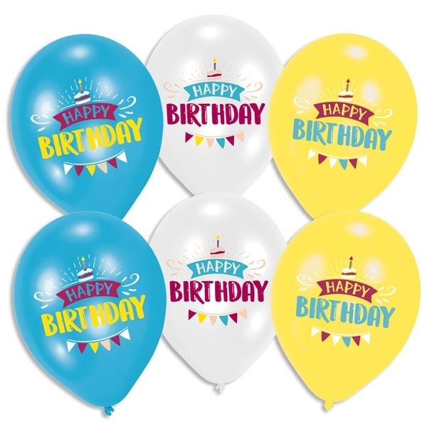 """My Happy Birthday"" Luftballons 6 Stk, Ø 27,5cm"