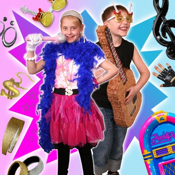 Verleihkiste ROCKSTAR, für 6 Kinder, für fetzige Partys, viele tolle Accessoires