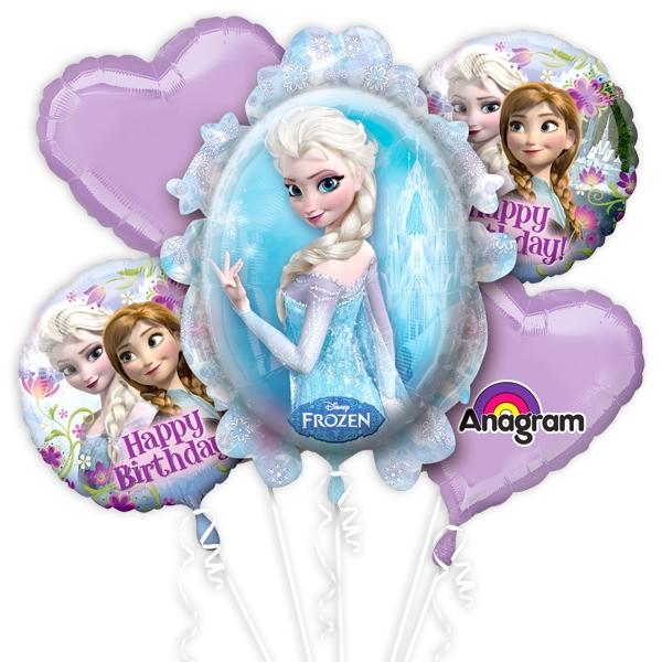 Ballon-Set EISKÖNIGIN,für die Frozen-Party zum Kindergeburtstag Mädchen,5-teilig