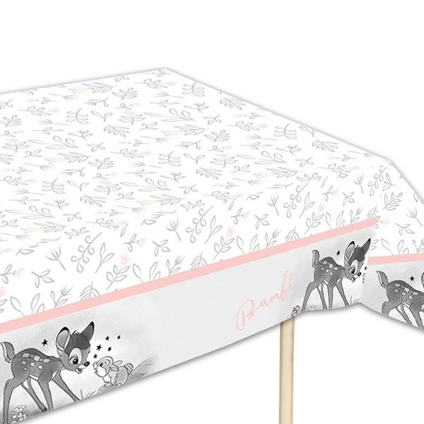 Bambi Tischdecke aus Folie, 1,2×1,8m, Geburtstagstischdecke Disney-Fans