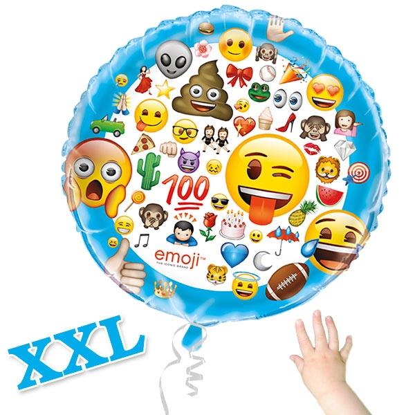 Emoji Folienballon XXL, Ø 86cm, heliumgeeignet