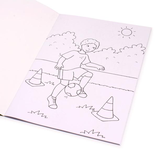 Fußball-Ausmalbuch 32 S., 1 Kindermalbuch, große Ausmalbilder