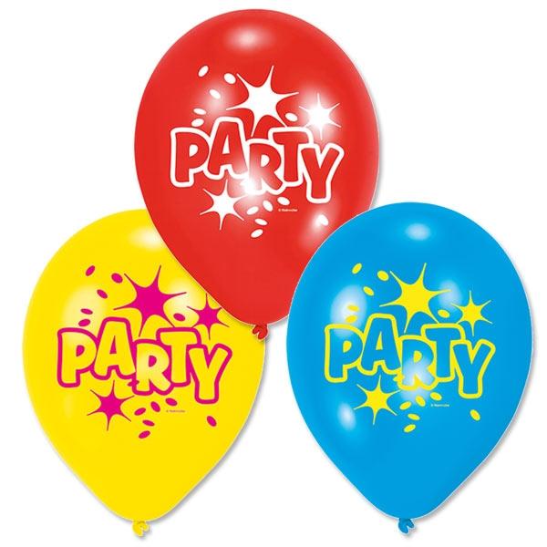 "Luftballons ""PARTY"" 6 Stk, 22,8cm"