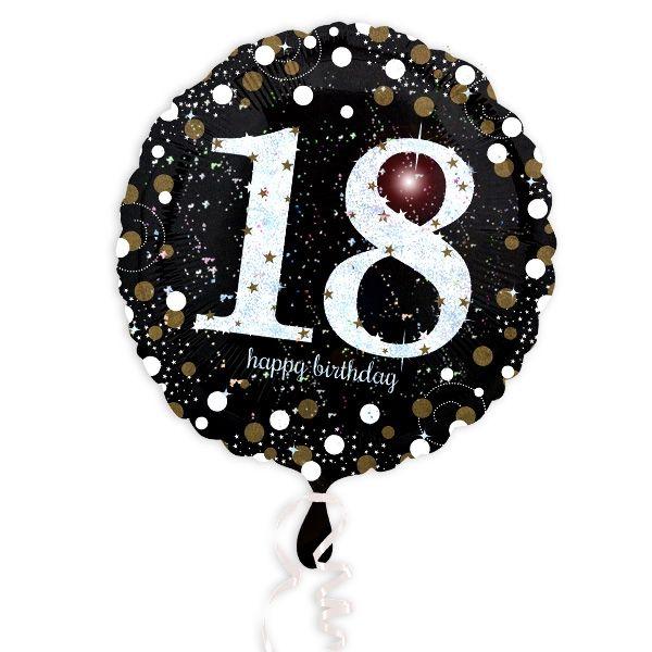 Glitzer-Folieballon zum besonderen 18. Geburtstag, 1 Stück, 35cm