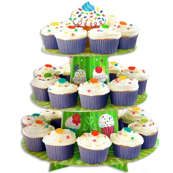 Cup Cake Etagere für Desserts, ca. 30x38cm, Fooddeko f. Kindergeburtstag Muffins