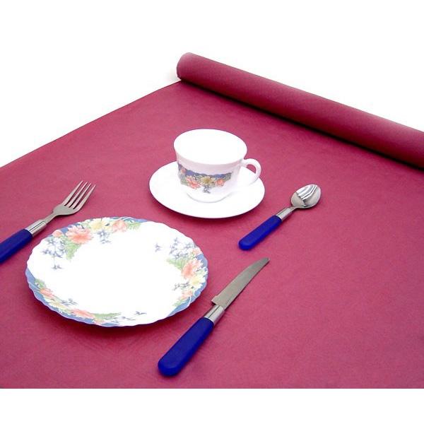 Tischdecke bordeaux auf Rolle 8 m, Damasttischtuch mit leichtem Dekor