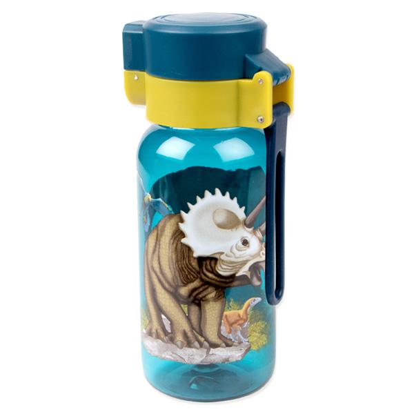 Dinosaurier-Trinkflasche aus Kunststoff, 400ml
