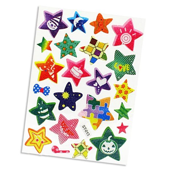 Sticker mit Sternenmuster, 23 Stück, lustig designte Sterne, tolle Idee