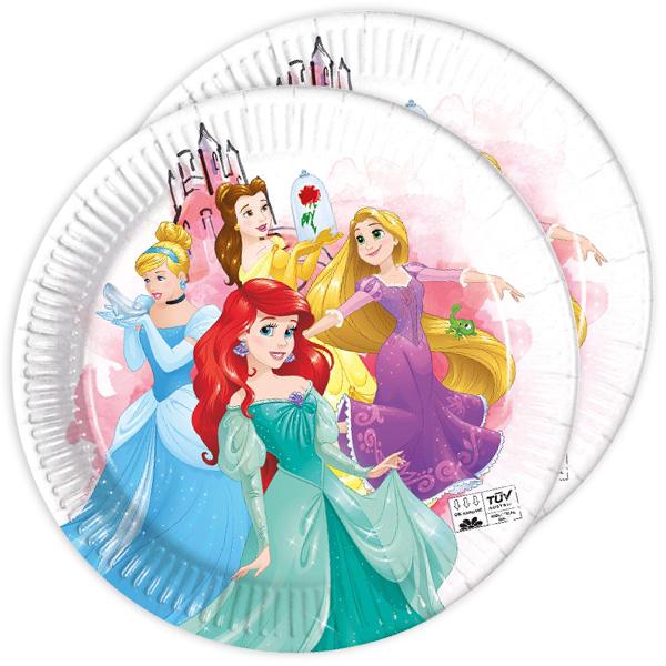 Disney Prinzessinnen Partyteller, 8 Stück, 22,5 cm