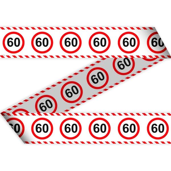 "Absperrband ""Verkehrsschild"" zum 60. Geburtstag, 15 Meter lang"