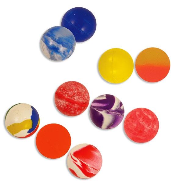 Flummis im Netz, 10 kleine Gummibälle zum Verschenken, bunt