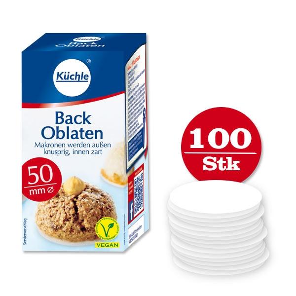 Backoblaten 100er Pck, Ø 50mm, hält frisch