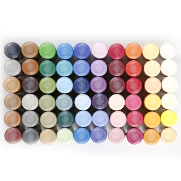 Bastelfarbe Plus Color, 60 Flaschen x 60 ml, äußerst gute Deckkraft