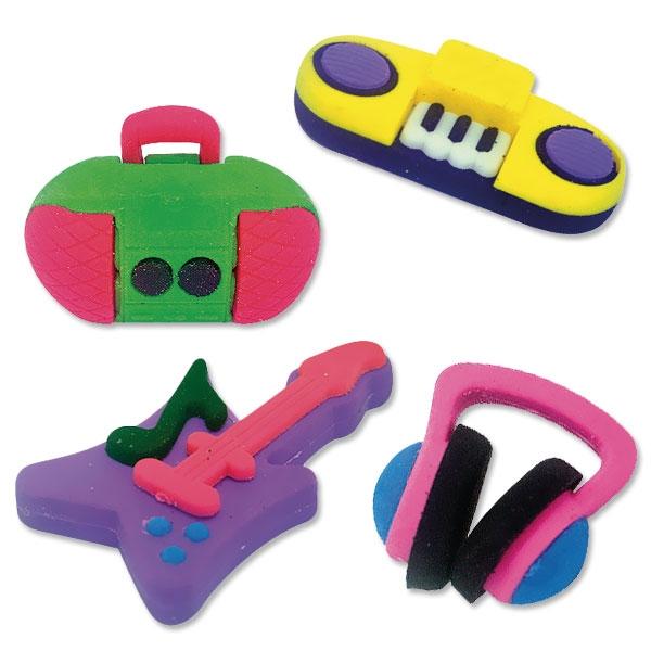 Ratze Fun-Set Music, 4 Radierer im Set, Puzzle-Radiergummis
