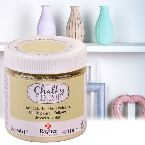 Chalky Finish Kreidefarbe Beige, samtartige Optik, 118ml, vielseitig einsetzbar