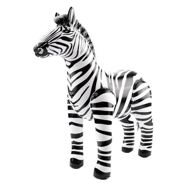 Zebra - aufblasbares Dekotier, 60cm für Mottoparty Dschungel/Safari