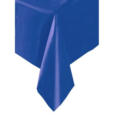 Tischdecke einfarbig blau 137x274cm, Folientischdecke für alle Feiern