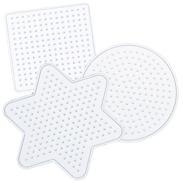 Bügel-Perlen Schablonen, 3-teiliges Set