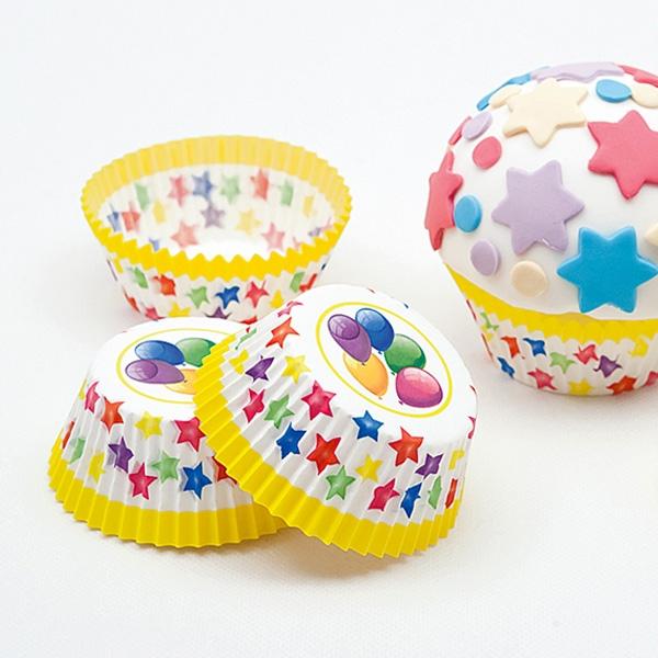 Muffinförmchen im Ballondesign, 75 Stück aus Papier für alle Partys
