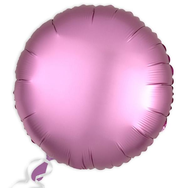 Folieballon rund Satin Luxe Rosa, 34 cm